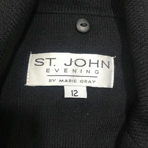 St. John Collection Jackets & Coats - {St John} Evening Collection Black Santana Knit